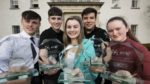 The winners of this year's BT Young Scientist Business Bootcamp