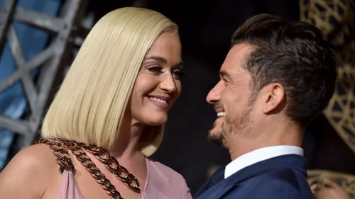 The proud parents - Katy Perry and Orlando Bloom