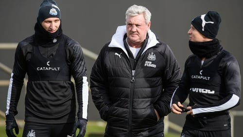 Newcastle manager Steve Bruce (centre) can plan for the future in the knowledge that Jonjo Shelvey and Matt Ritchie are remaining on Tyneside