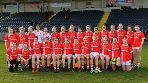The Cork panel prior to the Lidl Ladies National Football League Division 1 match against Mayo