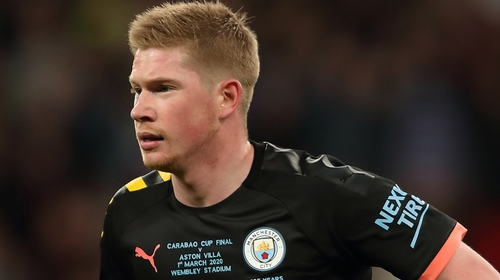 Kevin De Bruyne will be assessed before Sunday's game