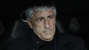 Barcelona head coach Quique Setien
