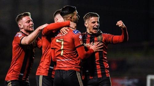 Danny Mandroiu celebrates his goal