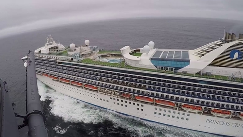 Nineteen crew members and two passengers have tested positive for the virus on board the Grand Princess