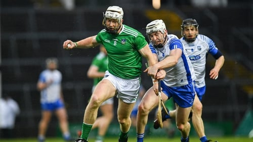 Cian Lynch of Limerick is tackled by Shane McNulty of Waterford in the league clash between the two counties in March
