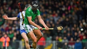 The influential Gearoid Hegarty scoring Limerick's only goal