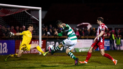 Shamrock Rovers and Sligo Rovers met in the final Premier Division game before the suspension of the league