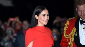 Meghan wore a pair of floral earrings by Irish designer Simone Rocha for the Mountbatten Festival of Music Photo: Getty