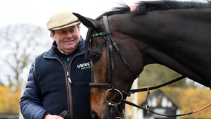 Trainer Nicky Henderson poses with Altior, who has won the last two renewals of the Champion Chase