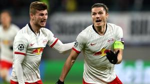 Marcel Sabitzer celebrates his goal