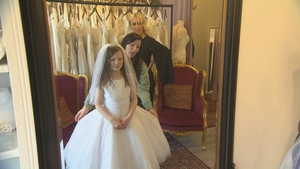 Sandra Fitzgerald visited The Bridal Boutique Fairview in Dublin with her daughter April today