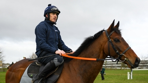 Ruby Walsh riding out on Chacun Pour Soi on the gallops on Monday