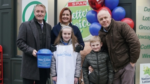 Abbie with her Fair City co-stars (l-r) Victor Burke (Wayne), Sorcha Furlong (Orla), Charlie Duffy (Junior) and Enda Oates (Pete)
