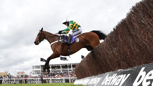 Champ arrived from the clouds to claim victory in the RSA Insurance Novices' Chase