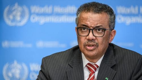 World Health Organization chief Tedros Adhanom Ghebreyesus