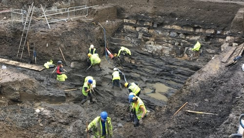 The dig is taking place beside Dublin Castle