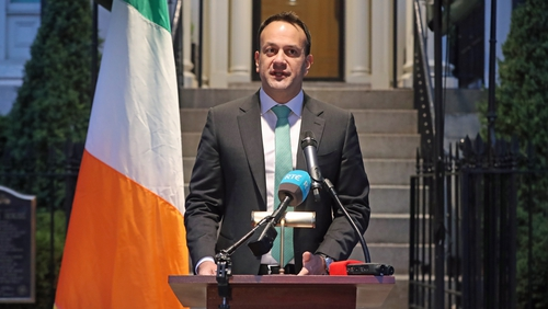 Leo Varadkar made the announcement in Washington today
