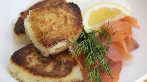Lilly Higgins's Higgins Potato Farls with Smoked Trout and Creme Fraiche from Today with Maura and Dáithí.