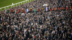 Crowds at the Cheltenham racecourse in March