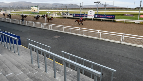 Racing went ahead without spectators at Dundalk last week