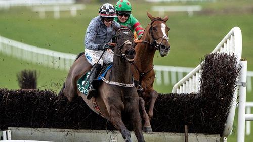 Castlegrace Paddy jumps the final fence from Ornua at Navan