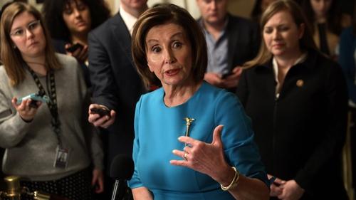 Speaker of the US House of Representatives Nancy Pelosi