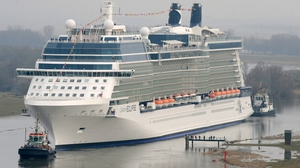 The Celebrity Eclipse cruise ship has been denied access to the ports in Chile (File pic)