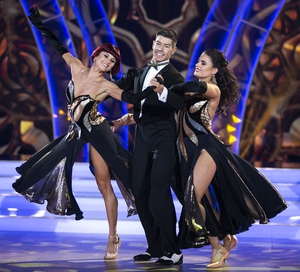 Ryan, Giulia and their trio dance partner Karen Byrne scored the maximum 30 for their American Smooth