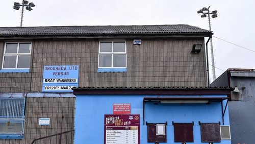 Drogheda United currently occupy second spot in the First Division
