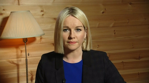 Claire Byrne during a recent 'at home' broadcast for RTÉ