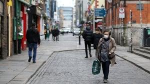 A near-empty street in Dublin's Temple Bar