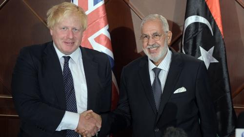 Boris Johnson visited Libya as UK Foreign Secretary in 2017