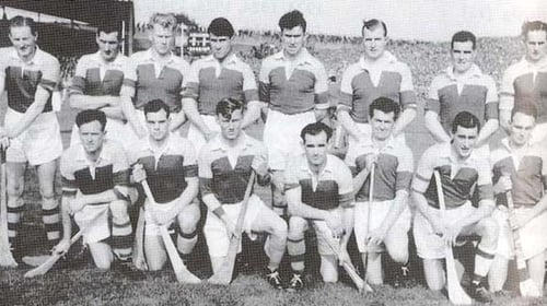 The Wexford team who won the delayed 1956 All Ireland hurling final