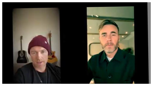 Ronan and Gary belting out Baby Can I Hold You