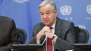 Antonio Guterres comments were stark in relation to the fallout from coronavirus