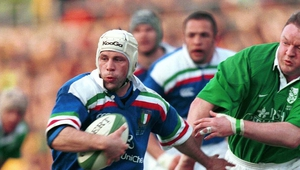 Troncon against Ireland in 2000. Photo Credit: fotosportit