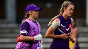 Kate Flood scored two goals for Freemantle before departing with an injury