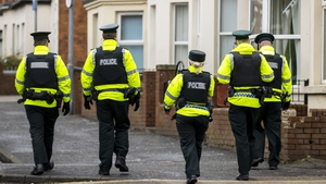 PSNI patrol the Holylands area of Belfast