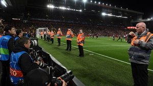 The Liverpool stewards are being put to good use while football is on hold