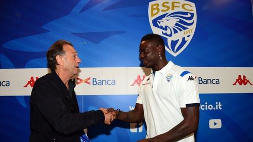 Brescia president Massimo Cellino unveils new club signing  Mario Balotelli last summer