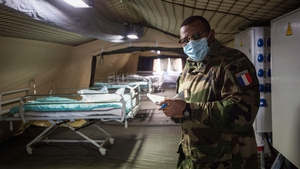 France has set up a number of field hospitals as it deals with the Covid-19 outbreak