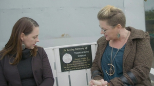 Claire and Eimear Crehan at Kilcock Mens Shed