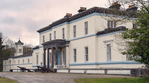 The manor is famous for its striking conservatory.