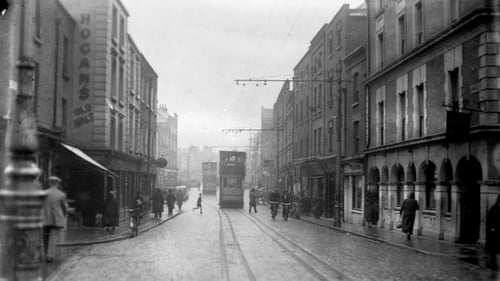 "Wexford Street in Dublin in the late 1940s: ""at a time when other European countries had seen a mortality decline after the Second World War, Ireland was still in the grip of a tuberculosis epidemic"". Photo: Independent News And Media/Getty Images)"