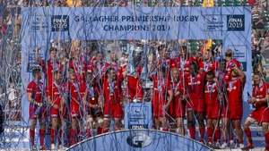 Saracens were crowned champions for the fourth time in five years - but they are still bound for relegation this season