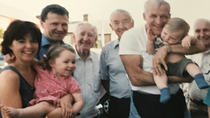 Tim Carey and family with Hill Street Blues star Daniel J Travanti
