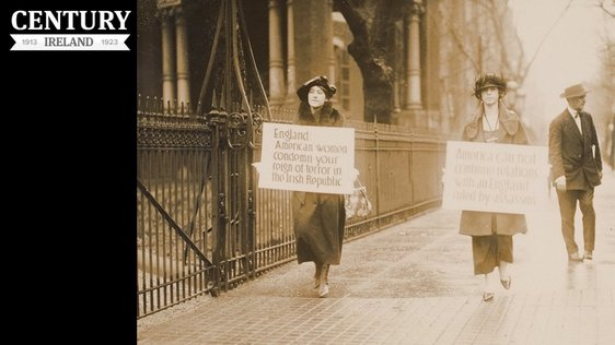Century Ireland Issue 175 - Women-holding-signs-in-Washington-April-1920