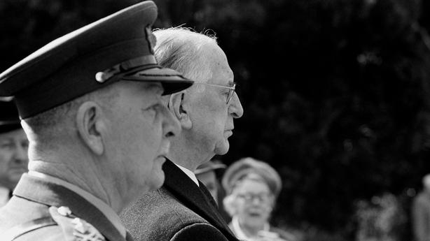 Colonel Thomas McNamara and President Éamon de Valera