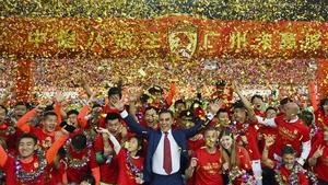 Fabio Cannavaro's Guangzhou Evergrande won the 2019 Chinese Super League