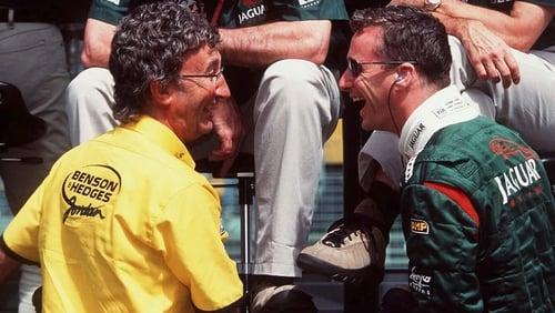 Eddie Jordan (L) and Eddie Irvine enjoyed huge success in Formula One